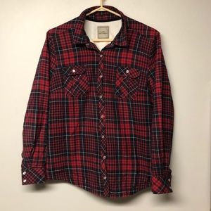 Lady Hathaway Snap Button Flannel Shacket  Coat